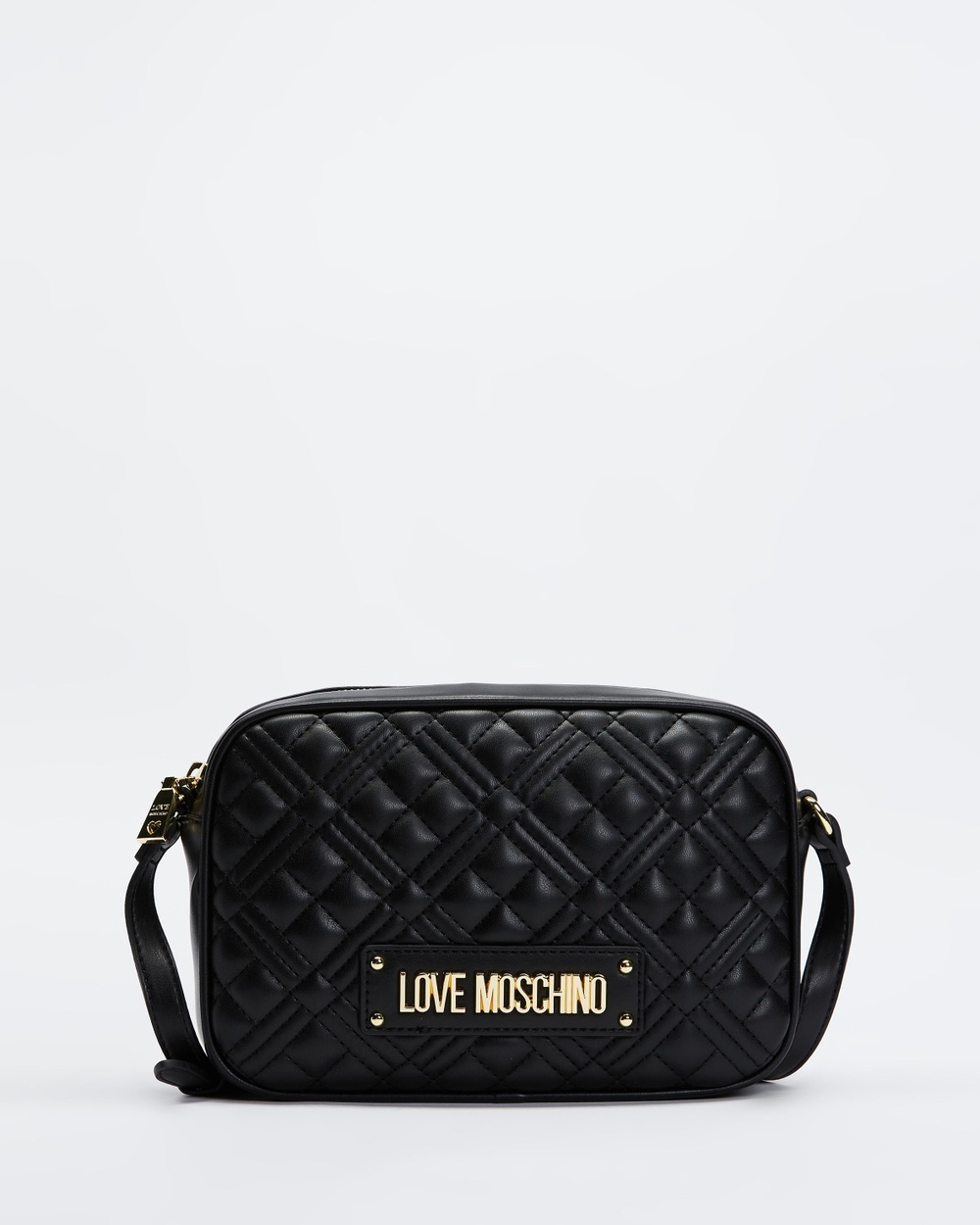 LOVE MOSCHINO Quilted Soft PU Crossbody Bag Handbags Nero