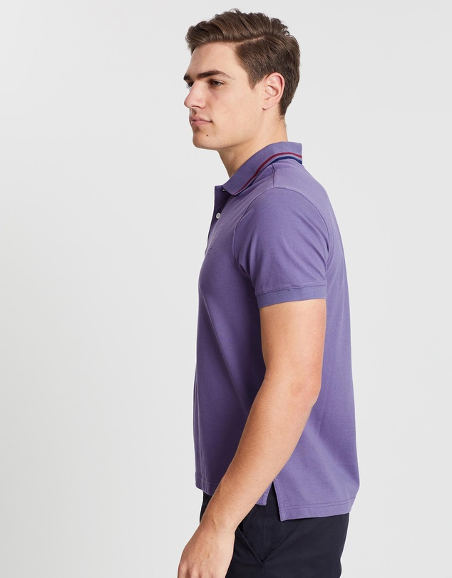 Kent and Curwen - Three Lions Stripe Collar Polo