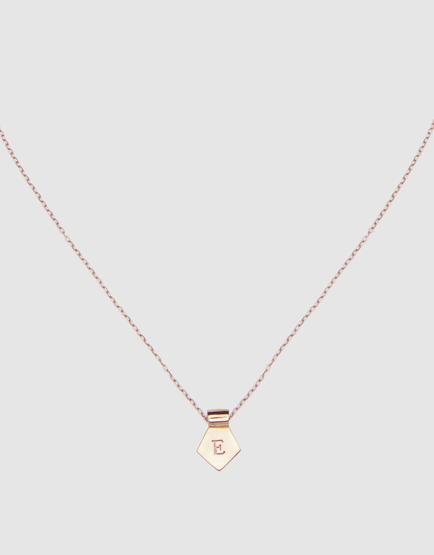 Letter E Pendant Necklace Rose Gold By Ca Jewellery Online Gov Australia