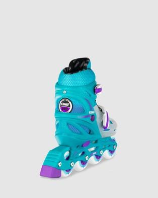 Crazy Skates 148 Adjustable Inline - Performance Shoes (Teal)