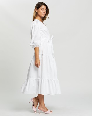 Glamorous Tiered Maxi Dress - Dresses (White)