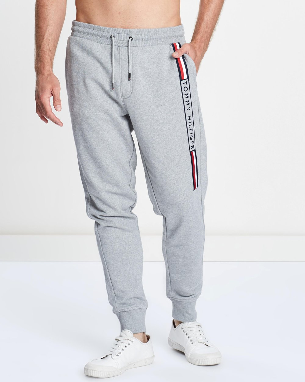 ada22037 Basic Branded Sweatpants by Tommy Hilfiger Online | THE ICONIC | Australia