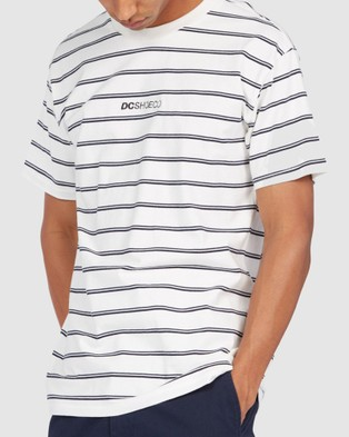 DC Shoes - Mens Mixer Stripe T Shirt T-Shirts & Singlets (White)