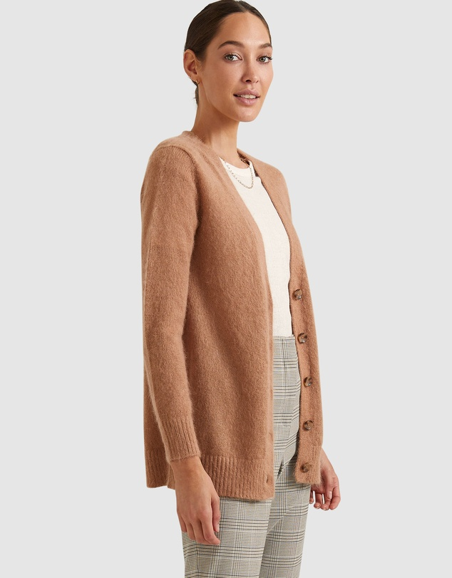 Women Lady Relaxed Cardigan