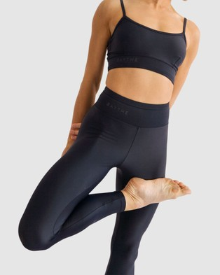 BAYTHE Movement 7 8 High Waisted Legging - Compression Bottoms (Black)