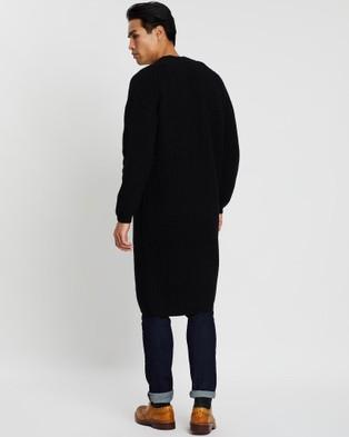 CERRUTI 1881 Wool Cashmere Cardigan - Jumpers & Cardigans (Black)