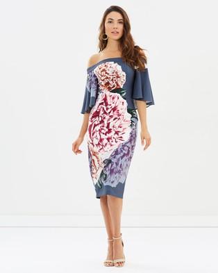 Pasduchas – Rumba Shoulder Midi Dress – Printed Dresses Twilight