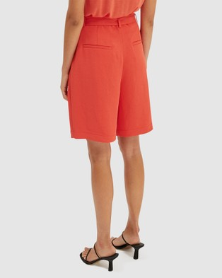SABA Dharma Belted Shorts - Suits & Blazers (orange)