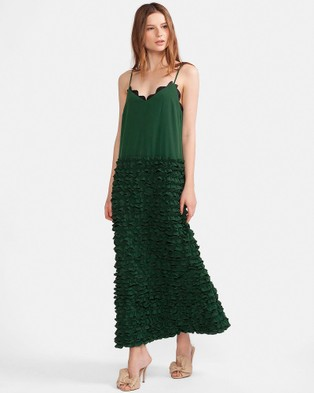 Cynthia Rowley – Mini Ruffle Maxi Slip Dress