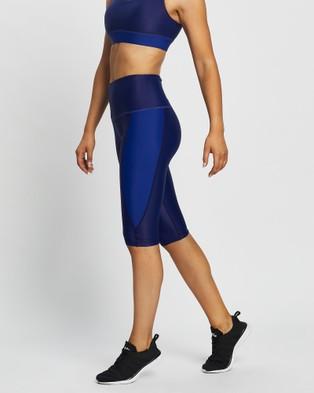 MORE BODY Dame Denim Long Shorts - 1/2 Tights (Indigo)