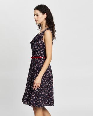 Review Lifesaver Dress - Printed Dresses (Navy Multi)