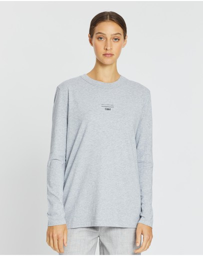 C&m Camilla And Marc Agnes Long Sleeve Tee Grey