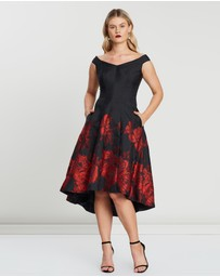 Montique - Margherita Jacquard Rose Dress