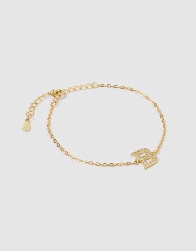 Women Crystal Letter B Bracelet