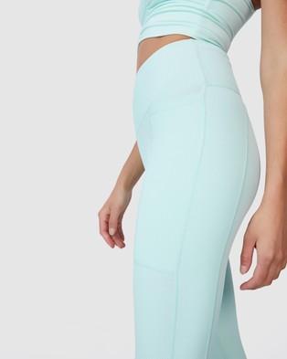 Cotton On Body Active Rib Pocket 7 8 Tights - 7/8 Tights (Aqua Splash)