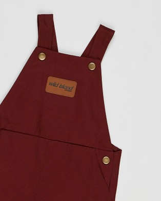 Wild Island The Wildling Overalls Shorts   Babies - Jumpsuits & Playsuits (Red Earth)