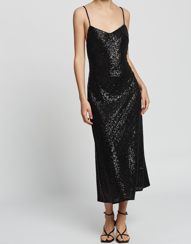 BY JOHNNY. - Night Shine Cross Back Midi Dress