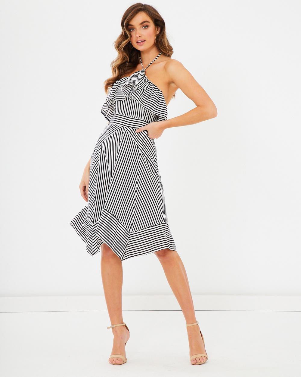 Photo of Tussah Black Stripe Henderson Halter Dress - beautiful dress from Tussah online