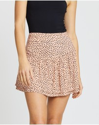 All About Eve - Painted Dot Mini Skirt