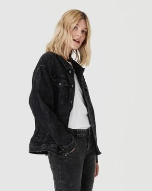 Jac & Mooki - Delta Trucker Jacket - Denim jacket (black acid wash) Delta Trucker Jacket