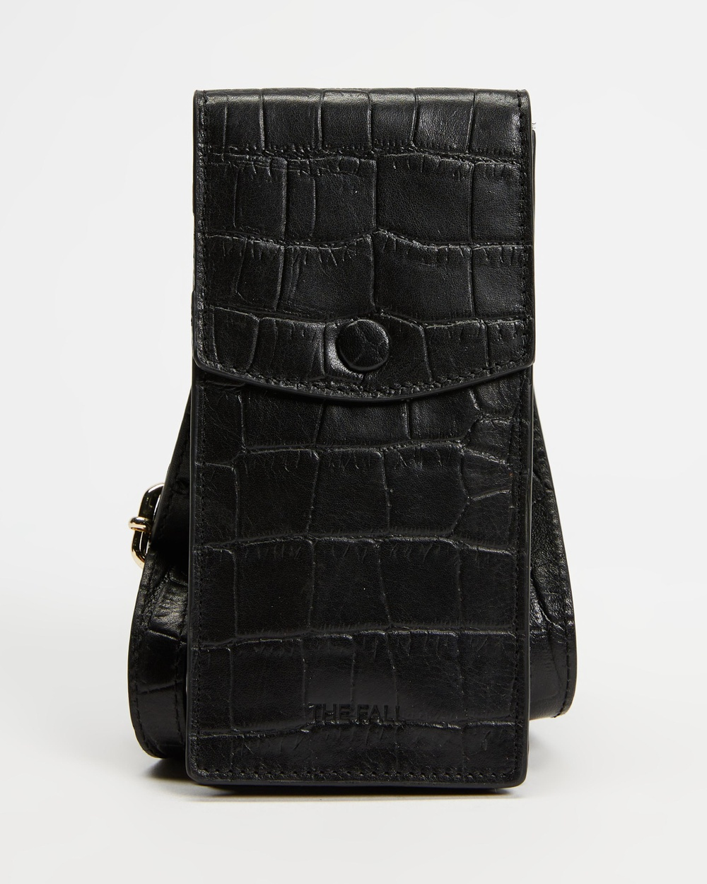 Fall The Label Phone Pouch Tech Accessories Black Croc