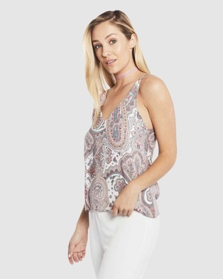 Deshabille Sleepwear  Harmony Cami - Sleepwear (Grey / Pink)