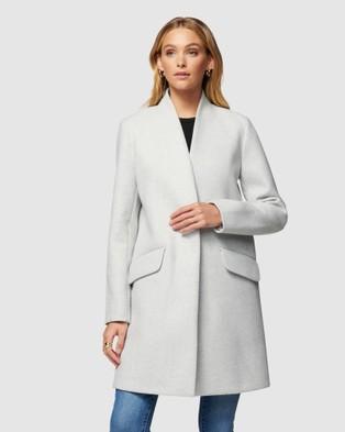Forever New Alison cocoon coat - Coats & Jackets (Grey)