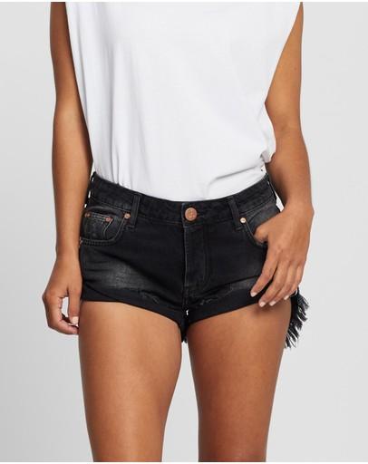 Oneteaspoon Bandit Low-waist Shorts Worn Black