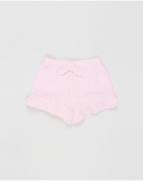 Milky - Frill Broderie Shorts - Kids