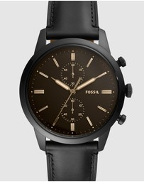 Fossil - Townsman Black Chronograph Watch