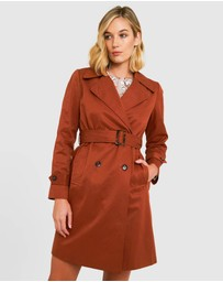 Forcast - Maliah Double-Breasted Trench Coat
