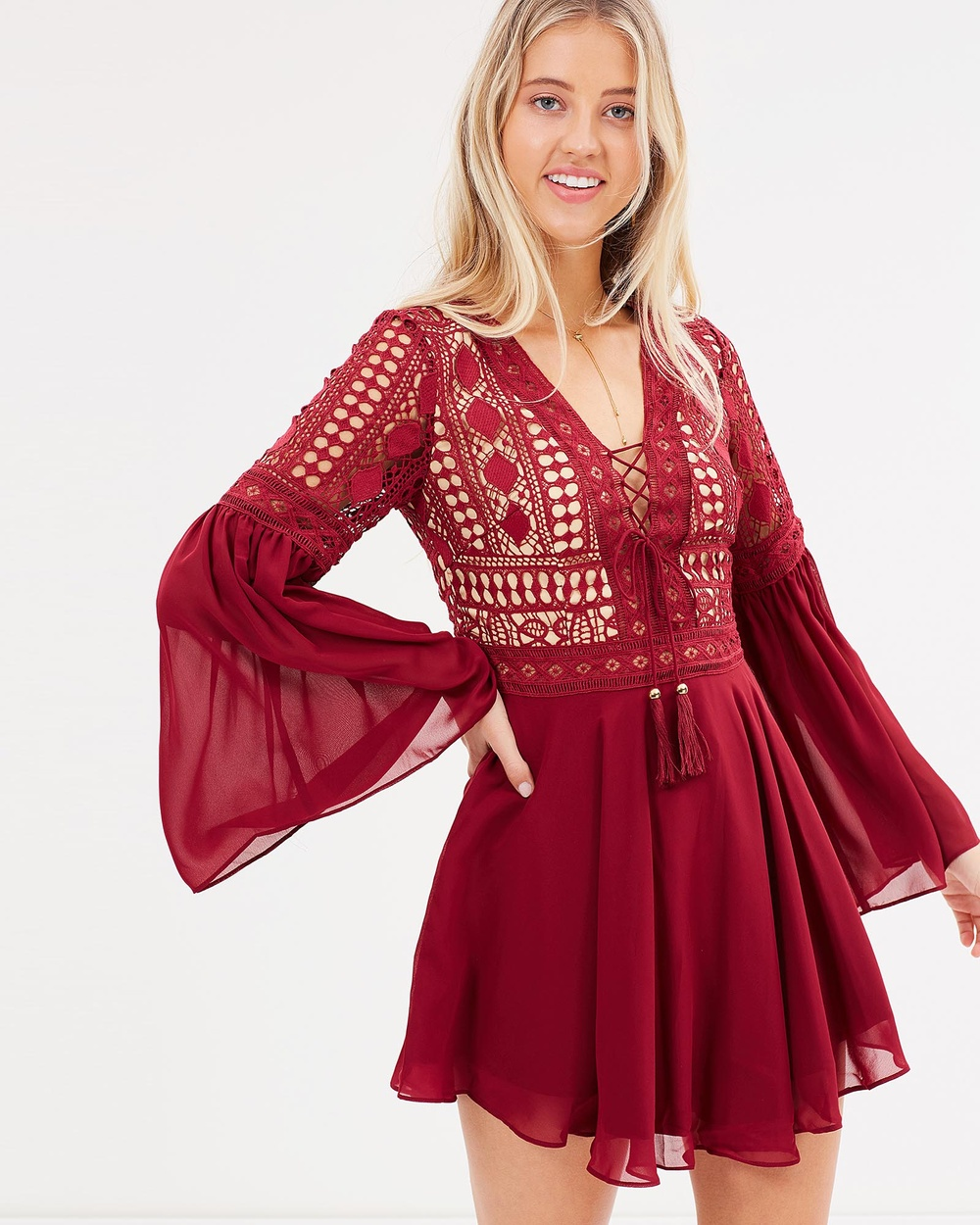 Twosister's The Label Alyse Dress Dresses Red Alyse Dress