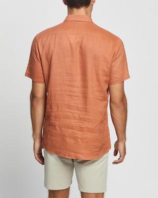 Marcs Felix SS Linen Shirt - Casual shirts (Rust)