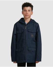 DC Shoes - Youth Mastaford Water Resistant Hooded Field Jacket