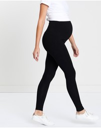 Angel Maternity - Maternity 2-Pack Basic Full Length Leggings