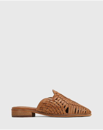 Wittner - Hatisha Leather Woven Flat Mules