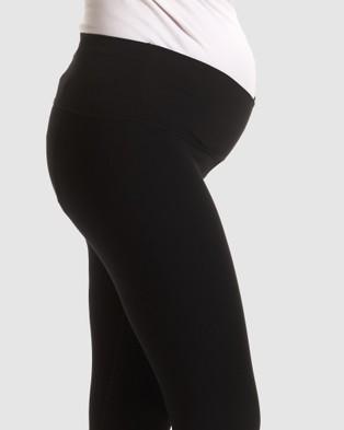 Soon Maternity Sage 3 4 Active Leggings - 3/4 Tights (Black)