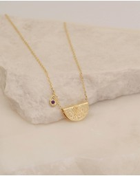 By Charlotte - February Awaken Your Senses Gold Pendant Necklace