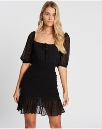 Atmos&Here - Lilly Puff Sleeve Shirred Dress
