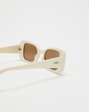 Soda Shades Bambi  - Sunglasses (Bone & Brown)