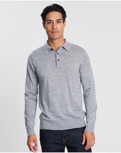 3 Wise Men - Long Sleeve Merino Polo