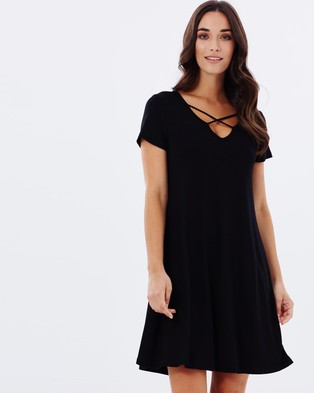 Buy Atmos & Here - Inka Swing Dress - Dresses (Black) -  shop Atmos & Here dresses online