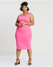 Atmos&Here Curvy - Becky Body-Con Square Neck Dress