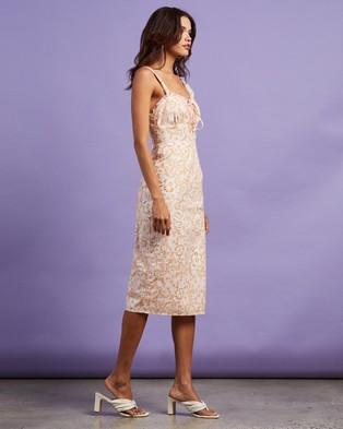 Dazie - Date Night Midi Dress - Printed Dresses (Pink Floral) Date Night Midi Dress