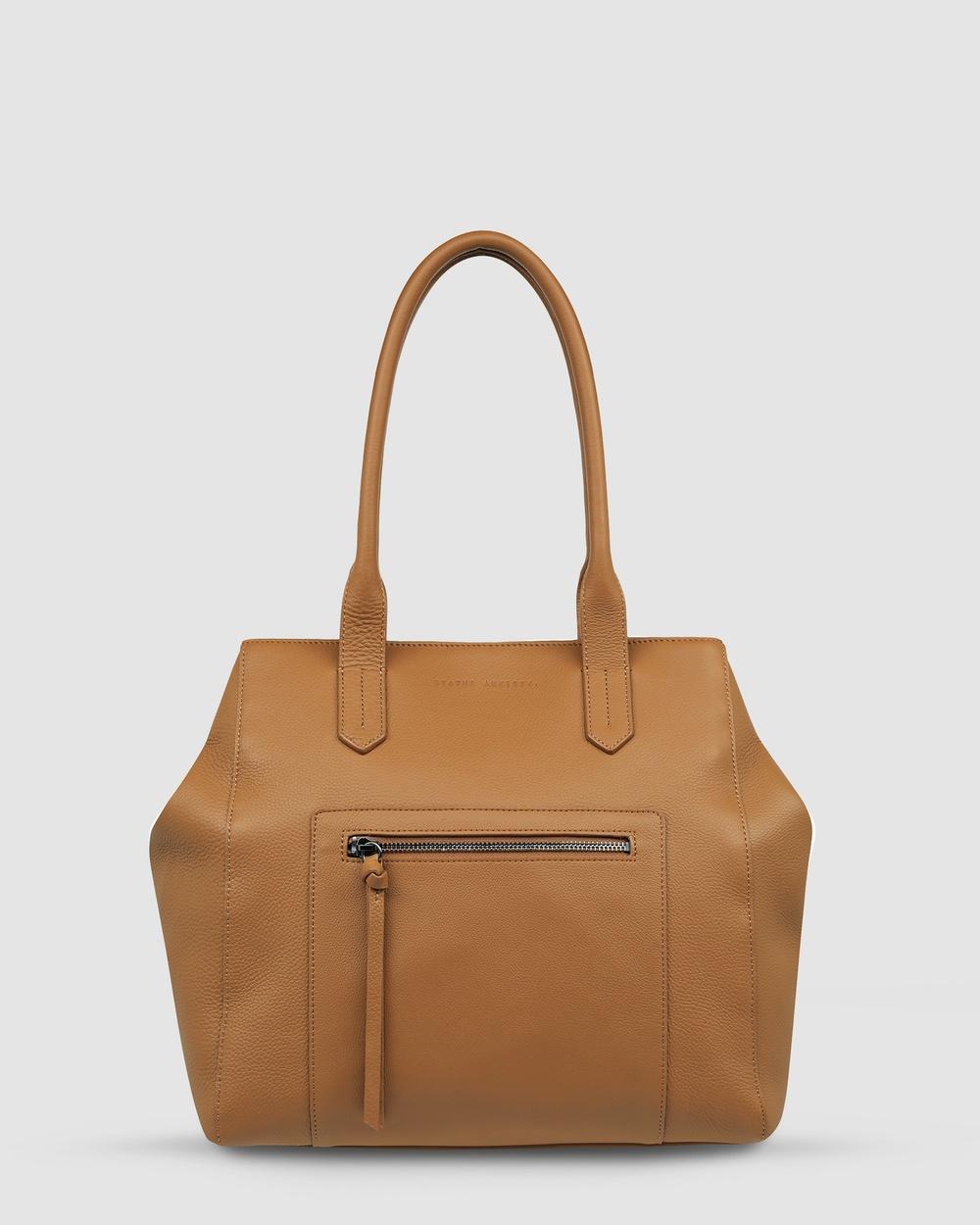 Status Anxiety Abandon Tote Bags Tan