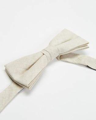 Tie Lab Bow Tie & Pocket Square - Pocket Squares (Beige & Beige)