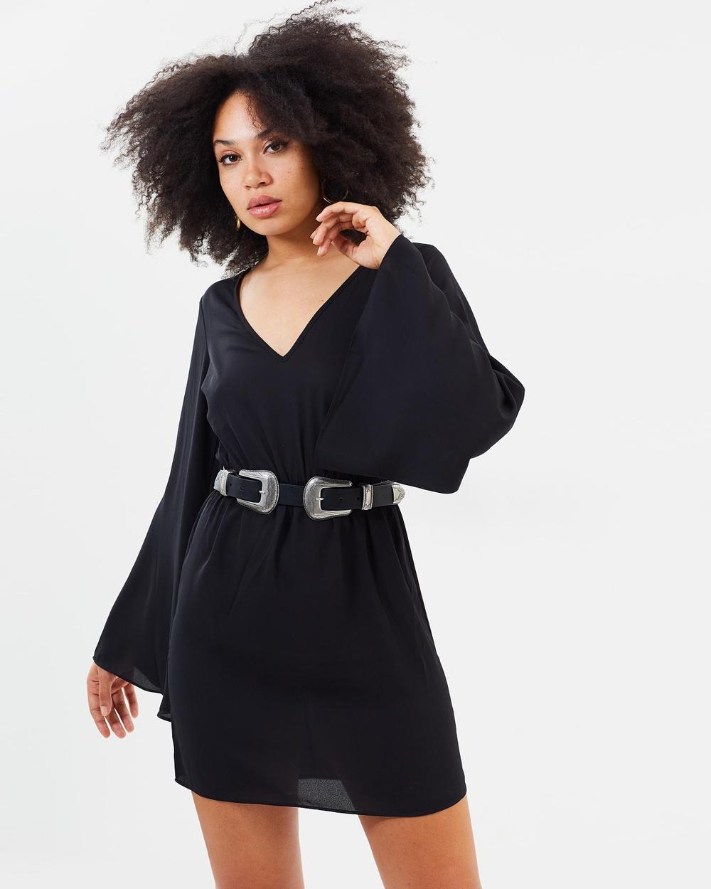 Missguided Kimono Sleeve Dress Dresses Black Kimono Sleeve Dress