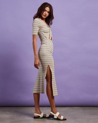 Cools Club Tie Midi Dress - Dresses (St Tropez Stripe)