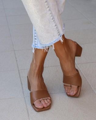 Covet Shoes - Charlee Block Heels Mid-low heels (Tan)