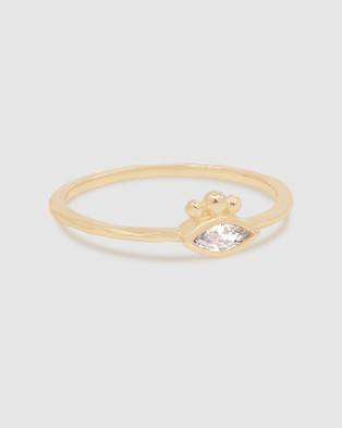 By Charlotte Gold Trust Your Intuition Ring Jewellery Gold